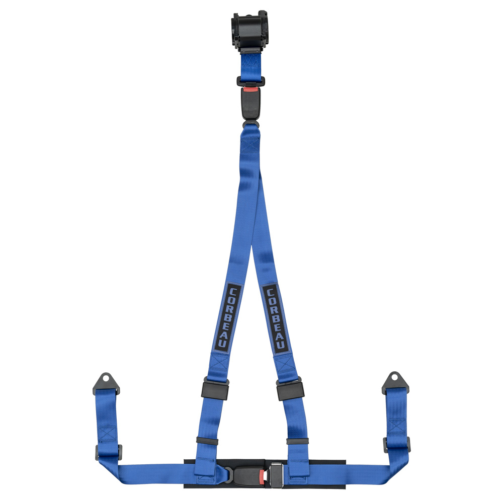 Corbeau 3 Point Retractable Harness in Blue