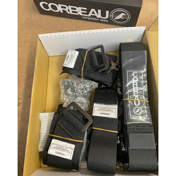 Corbeau FIA Racing Harnesses in Black
